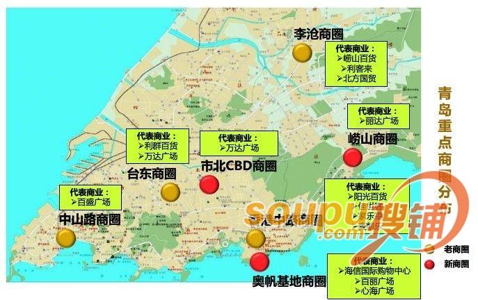 青岛有台东区地图