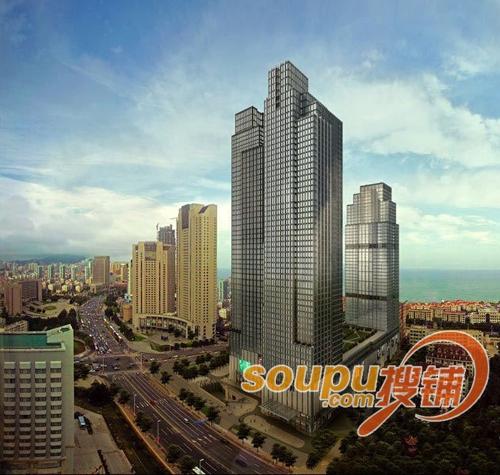 位于青岛市香港中路cbd中央