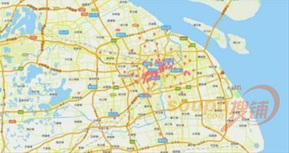 星巴克上海地图:布局成熟商圈,城市副中心,工业园区