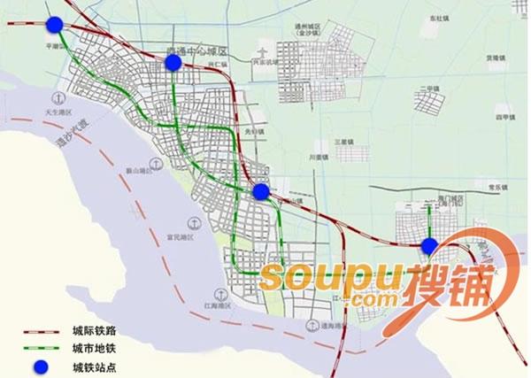南通地鐵最新規劃圖曝光 將改變沿途商業格局