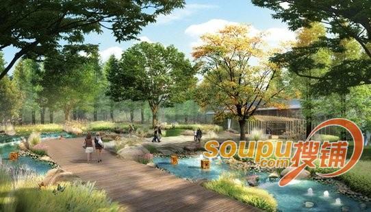 以乔木为主的休闲广场设计图