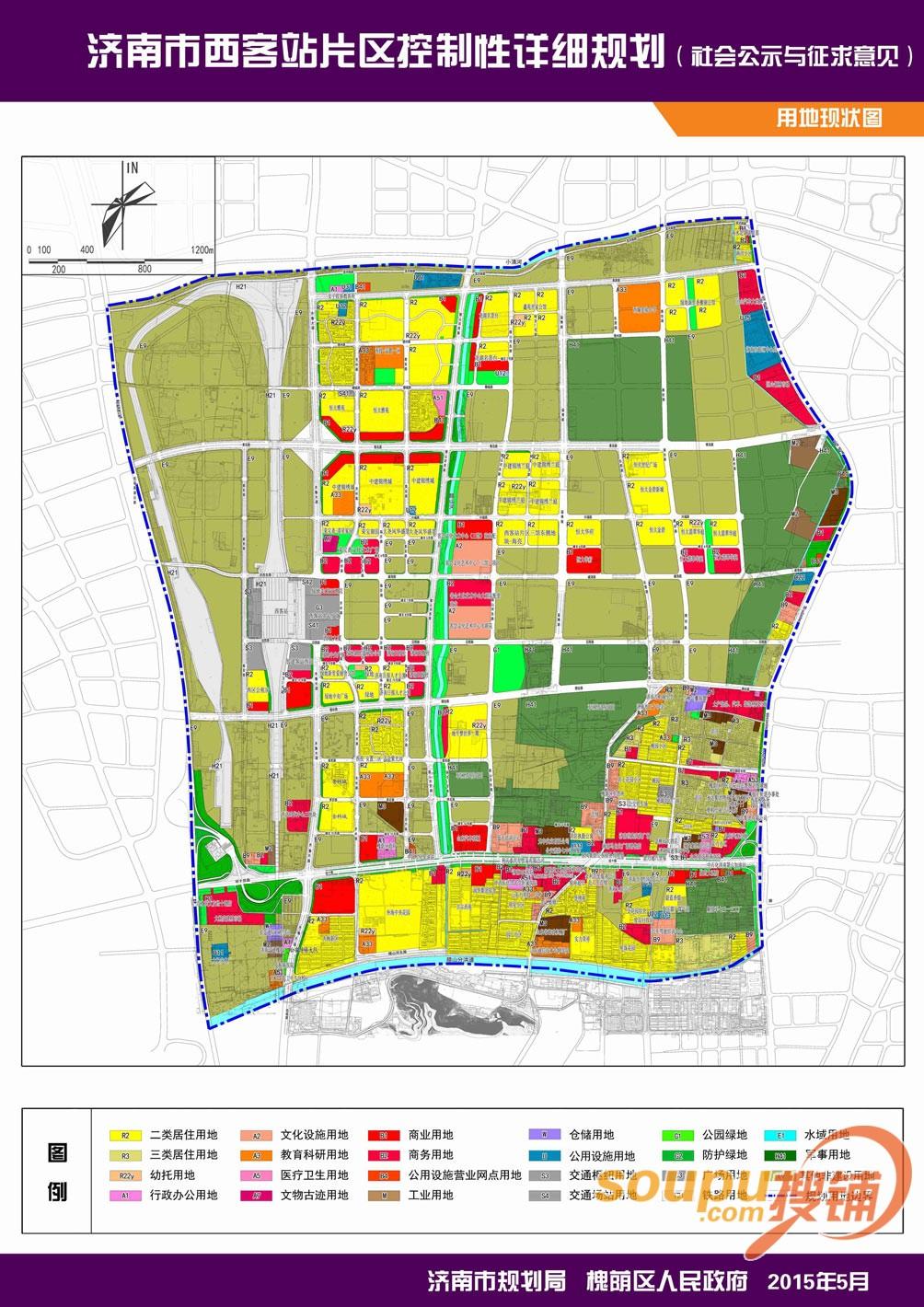济南市西客站片区详细规划图 打造金融商务新区