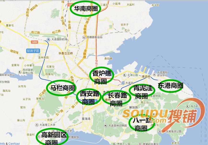 大连商业地图抢先看 扒一扒东港这些新晋商圈
