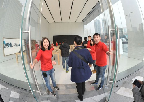 山东首家苹果直营店周六在青岛万象城开业