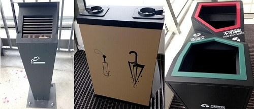 分类垃圾桶是扶梯厅里的三大标配