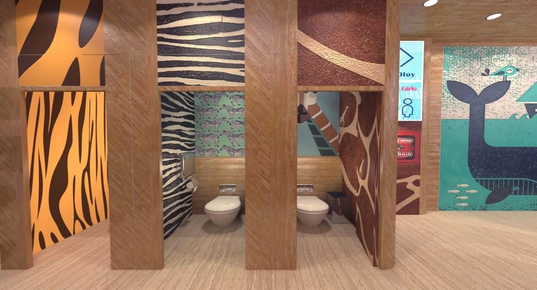"""所以,当看到远洋·adm项目空间创意设计大赛中""""儿童洗手间设计""""这一图片"""