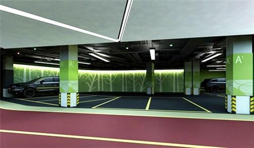 个性化主题车库设计——交通流线导向清晰,专设有ceo停车区,地面停车