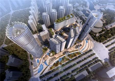 金地天府城规划图-是谁撑起成都 脊梁 天府大道的繁华