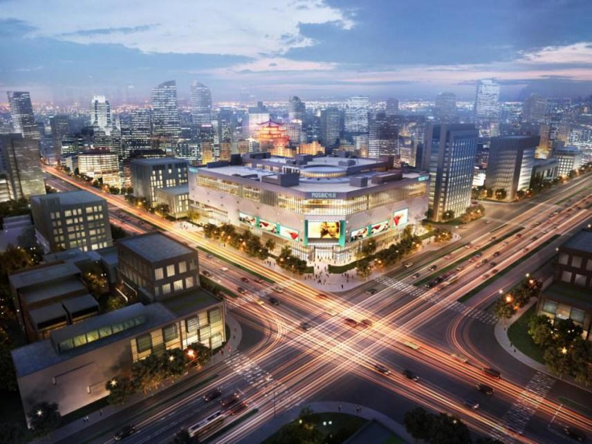 西安悦荟广场总建筑面积约12.2万平米,其中商业面积占据约5万平方米.